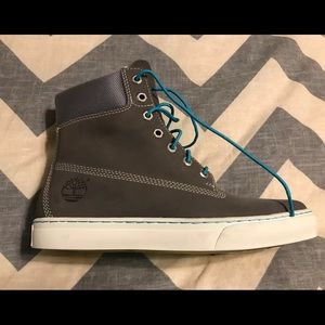 Men's size 8 timberland grey 6 inch cupsole boots